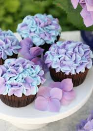 Wedding Cupcake Decorating Ideas Hydrangea Cupcakes U2013 Glorious Treats