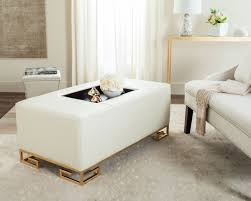 White Leather Sofa Ikea by Fox6243a Coffee Tables Ottomans Furniture By Safavieh