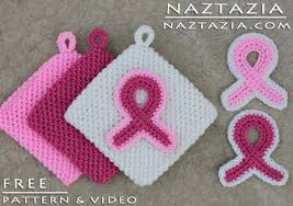 crochet ribbon crochet awareness ribbon for breast cancer and other causes by donna