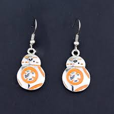 wars earrings hanchang accessories wars earrings bb8 bb 8 r2d2 droid robot