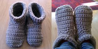 womens slipper boots size 9 crochet slipper boots