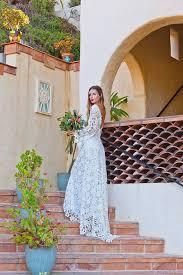 simple open back wedding dresses crochet lace bohemian wedding dress open back with boho bell