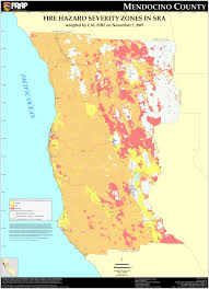 California Wildfire Fire Map by Cal Fire Mendocino County Fhsz Map