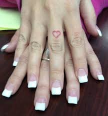 white french tip acrylic nails nailsies pinterest makeup