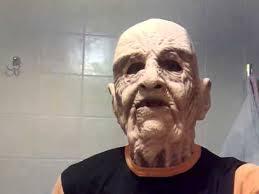 testing my new old man halloween mask youtube