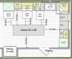 space around kitchen island kitchen aisle dimensions run of units opposite end of island with