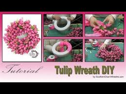 tulip wreath how to make a tulip wreath
