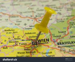 Map Austria Pin Map Wien Austria Stock Foto 72047548 Shutterstock