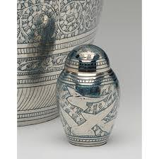 keepsake urns keepsake urns for ashes blue and silver bird in flight