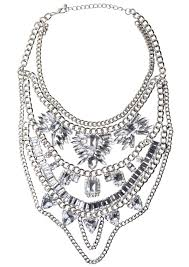 statement chain necklace images Bold clear crystals statement necklace happiness boutique jpg