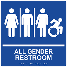 ada all gender restroom sign rre 25419 99 whtonblu gender neutral