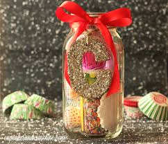 cupcake lovers mason jar christmas gift diy home with cupcakes