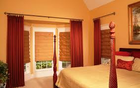 Red Curtains In Bedroom - curtains yellow walls red curtains designs drapes for bedroom