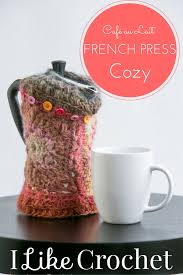 crochet french press cover pattern crochet around the home