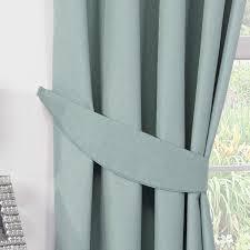 luna duck egg luxury thermal blackout pencil pleat curtains pair