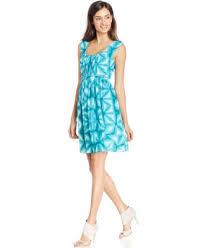 calvin klein pleated a line dress dresses women macy u0027s