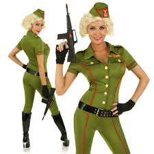 Army Soldier Halloween Costume Womens Role Play Army Costume