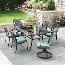 Hampton Patio Furniture Sets - hampton bay belcourt 7 piece metal outdoor patio dining set with