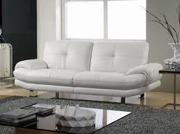 canapé 3 places cuir blanc canapé 3 places en cuir swan
