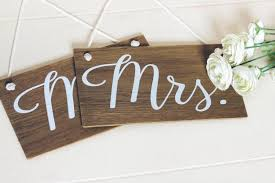 Wedding Chair Signs Mr And Mrs Signs Rustic Wooden Wedding Signs Wedding Chair Signs