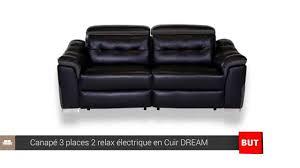 canape but relax canapé 3 places 2 relax électrique cuir but