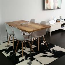 modern reclaimed wood dining table reclaimed dining table mid