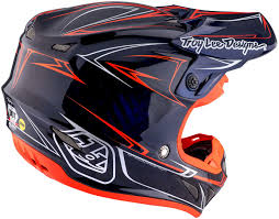 blue motocross helmets troy lee designs se4 pinstripe carbon blue motocross helmets troy