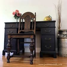 Distress Leather Chair The Best Black Distressed Painted Furniture Makeovers