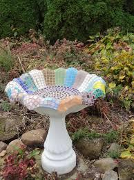 satellite dish becomes mosaic ed bird bath diy pinterest