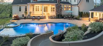 Backyard Pool With Slide Environmental Pools Featured In The Wall Street Journal