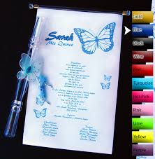 Scroll Invitations Quinceanera Invitations With Butterflies