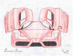 ferrari drawing ferrari enzo hand drawn w colour by koopa27 on deviantart
