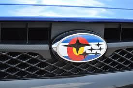custom subaru emblem subaru colorado flag overlay set emblem overlays