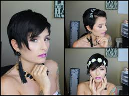 how to style a pixie cut different ways black hair 3 ways to style a pixie cut pinkl0vexx youtube