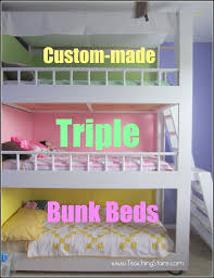 Clever Chicks Blog Hop  Triple Bunk Beds Pinterest Diy And - Triple bunk bed plans kids