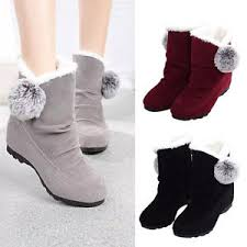 Comfortable Ankle Boots Winter Women Fashion Ankle Boots Flats Casual Shoes Warm Suede
