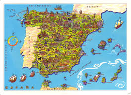 A Map Of Spain by Maptitude