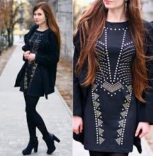 with tights and ankle boots