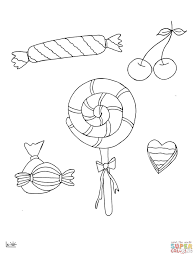 lollipops cherry coloring free printable coloring pages