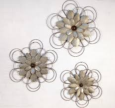 Metal Flower Wall Decor - wall art ideas design unique hanging flower metal wall art