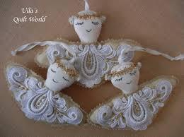 lavender angel scent pouches pattern enkeli laventeli