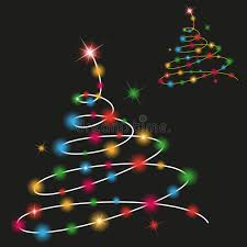 black colored christmas lights christmas tree with colored lights stock illustration illustration