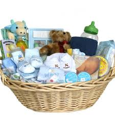 baby basket gifts deluxe baby gift basket blue for boys great shower