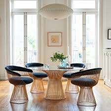 Warren Platner Chair Knoll Warren Platner Dining Table In Gold Gr Shop Canada