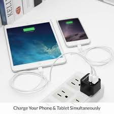 fast charge dual usb wall or car charger chargetech