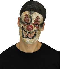 fun world killer clown creepy sewn mouth horror halloween mask ebay
