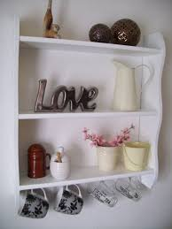 Decorations Creative Diy White Wooden Wall Shelves Ideas In