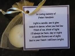 memorial service favors 50 x personalised scented candle favors memorial funeral