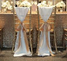 wholesale chair covers for sale hot sale white taffeta chair sashes with golden chagne ribbon
