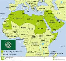 arab map map of arab major tourist attractions maps